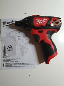 Milwaukee M12 2401-20 1/4 inch Cordless Hex Screwdriver with Drill Bit