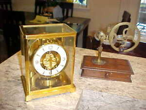1960's Jaeger LeCoultre  Atmos (526-5) Perpetual Motion Clock Swing Front Door!
