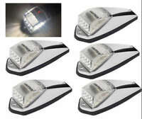 5*17LED White Cab Roof Marker Clearance Light Chrome Base for Peterbilt Kenworth