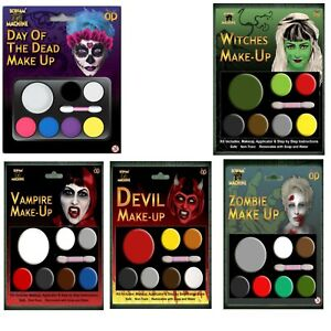 DAY OF THE DEAD HALLOWEEN FACE PAINT SETS FANCY DRESS INSTANT FACE KIT