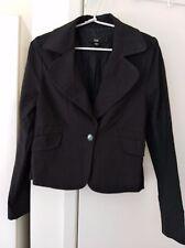 CUE Black Tailored Long Sleeve Viscose Nylon Cotton Elastane Blazer Jacket Sze 8