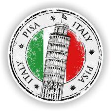Italy Italia Pisa Stamp Bumper Sticker Decal for Car Laptop Tablet Door