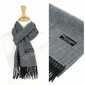 Super Soft Luxurious herringbone 100% Cashmere Made Scotland Winter Scarf