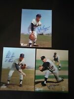 Nolan Ryan Tug McGraw Jerry Koosman 1969 mets signed photos  YOU GET ALL  3 ! !