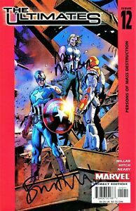 THE ULTIMATES #12 AVENGERS SIGNED WRITER MIKE MILLAR & ARTIST BRYAN HITCH