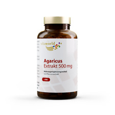 Vita World Agaricus Extrakt 500mg 100  Kapseln 20% Polysaccharide Mandelpilz