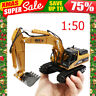 Xmas Gift 1:50 Excavator Diecast Alloy Engineering Vehicle Model Toys Truck Car