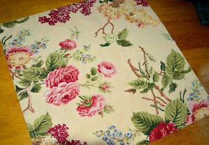 "Cottage Fabric Placemats Set 6 Romantic beige Floral Rose Lilacs Country 16"""