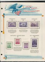united states commemoratives 1940/41/42 stamps page ref 18254