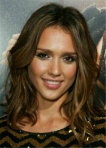 100% Human Hair New Fashion Beautiful Women's Medium Natural Brown Wavy Full Wig