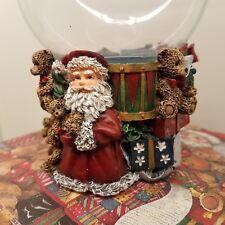Lang Candles Santa's Bears Tea Light Holder Glass Chimney Sherri Baldwin 2001