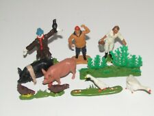 Vintage Britains Ltd Made in England collection of farm people animals scarecrow