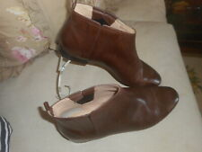 COLE  HAAN  GRAND  OS  WOMEN'S  BROWN  LEATHER  PULL ON  BOOTIES 8.5 M