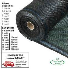 TELO OMBREGGIANTE RETE OMBRA 90% frangisole tessuto verde frangivista plastica