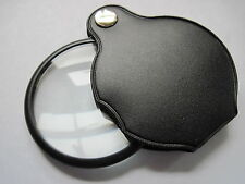 Folding Magnifier with 50mm Glass Lens - Classic magnifying loupe new
