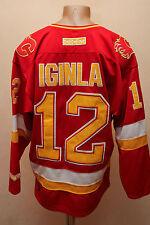 VINTAGE NHL CALGARY FLAMES USA ICE HOCKEY SHIRT JERSEY MAGLIA CCM IGINLA #12