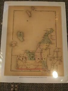 REPRODUCTION ANTIQUE 1873 HF WALLING SCARCE LEELANAU COUNTY