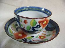 Gaudy Dutch SINGLE ROSE Pattern CUP and SAUCER #1