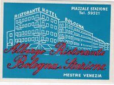 [CY] LUGGAGE LABEL ETICHETTA BAGAGLIO HOTEL - ALBERGO BOLOGNA MESTRE VENEZIA