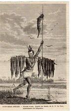 PECHEUR FISHERMAN ZANGUEBAR MOZAMBIQUE IMAGE 1890 PRINT