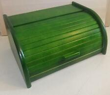 en bois Huche à pain vert boîte avec rouleau haut, Bois Hêtre 40 x 29 cm NEUF