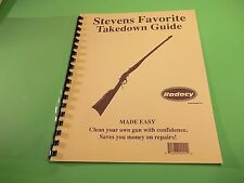TAKEDOWN MANUAL GUIDE STEVENS FAVORITE SINGLE SHOT RIFLE, detailed instructions