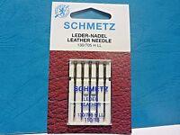 SCHMETZ Leather 16,18 & 19 Domestic Sewing Machine Needles Janome Brother Elna