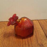 RARE Vintage Hand blown Glass Par A Sol Hummingbird Feeder Small - Sunset Red