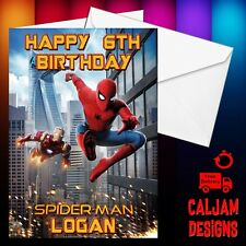 Spiderman Homecoming Birthday card personalised any text Son Grandson FREE P+P
