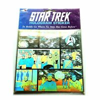 Star Trek Original Series Large Hologram 3D Sticker made in England 1991