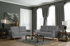 new aurora 3+2 seater sofa settee suite armchair foam seats, grey fabric, cheap