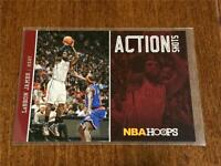 2013-14 Panini Hoops Basketball ACTION SHOTS - LeBron James - MIAMI HEAT