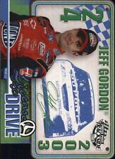 2003 Jeff Gordon 4-time campeón de NASCAR 23k Gold Card-gem-mint 10 Lote De 5 *