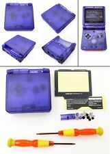 Transparent Clear Blue Shell Housing Case For Game Boy Advance SP GBA SP Console