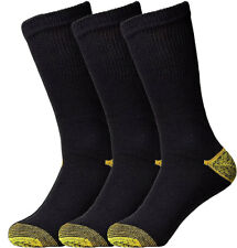 Gold Toe Men's Athletic Crew Socks Lot of 3 or 6 Packs (10-13)