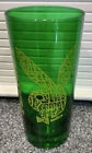 """Vintage 6"""" Playboy Bunny Drinking beer Glass Thick Heavy Base Rare! Green"""