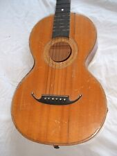 parlor gitarre antik old antique german guitar 6 string inlays guitarra antico