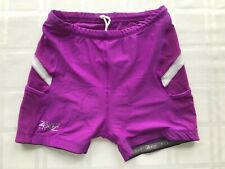 ZOOT Womens Large Shorts Purple Cloth Padded Cycling Shorts TS9