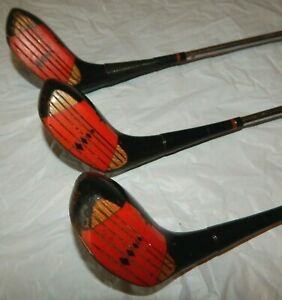 Wilson Aqua-Tite Strata-Bloc Golf 3 pc Set Drivers 3,4, & 5 Staff-Pro Shaft  EUC
