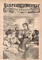 1868 Harpers Weekly October 31 - Winslow Homer; Chicago Markets; Democratic Hell