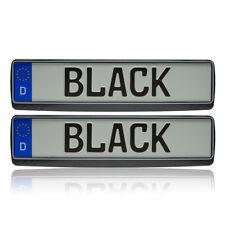 Opel 2x Black-White Look Kennzeichenhalter Kennzeichenrahmen Kennzeichen TOP