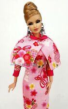 Eaki Pink Dress Outfit Gown Vintage Style Fits Silkstone Barbie Fashion Royalty