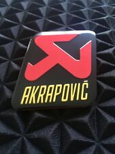 AKRAPOVIC 60mm/50mm Exhaust Heat Proof Resistant Sticker Decal Motorcycle Bike