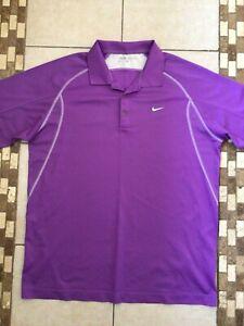 Mens light purple Nike Golf polo shirt size Large