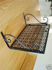 Iron Wall Mount Microwave Shelf Stand Rack Black 003