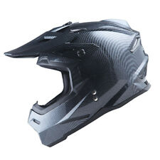 1Storm Adult Motocross Helmet Motorcross MX BMX Bike Racing Carbon Fiber Black