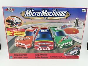 Micro Machines Rally Racetruck Playset + 3 Cars, HTF New - Hasbro 2000