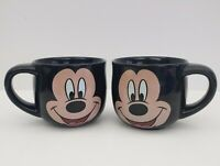 Mickey Mouse Face Mugs - Black - Disney - Set of 2