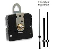 """Clock Movement Quartz Takane With 4"""" straight hands, for Dials up to 1/2"""" Thick"""
