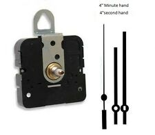 "Clock Movement Quartz Takane With 4"" straight hands, for Dials up to 1/4"" Thick"